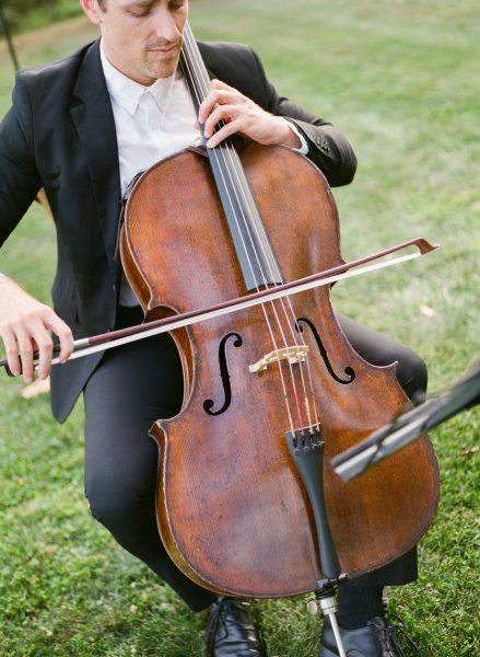 cello musician at a wedding ceremony