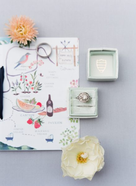 Welcome Bag Letter designed by Happy Menocal, planning by In Any Event NY, wedding at Cedar Lakes Estate