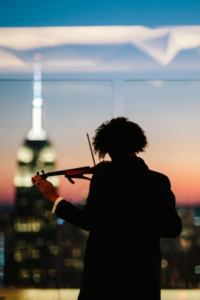 electric violin at the Rainbow Room, Sunset, planning by In Any Event NY