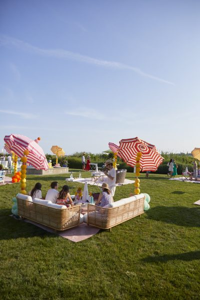 Socially Connected, Physically Distant Lounges at an outdoor baby shower