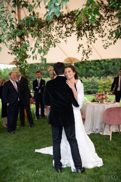 First Dance at an Intimate Watermill wedding planned by Leslie Price of In Any Event NY